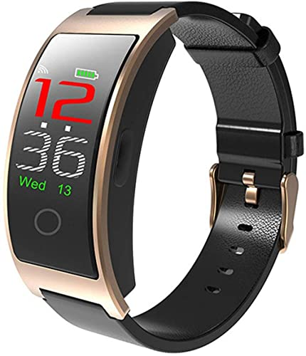 hwbq Reloj Inteligente Hombres Temperatura Monitoreo Pulsera Inteligente Mujeres IP67 Impermeable Bluetooth Smartwatch para Android-C