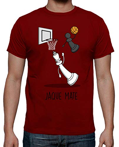 latostadora - Camiseta Jaque Mate para Hombre Rojo L