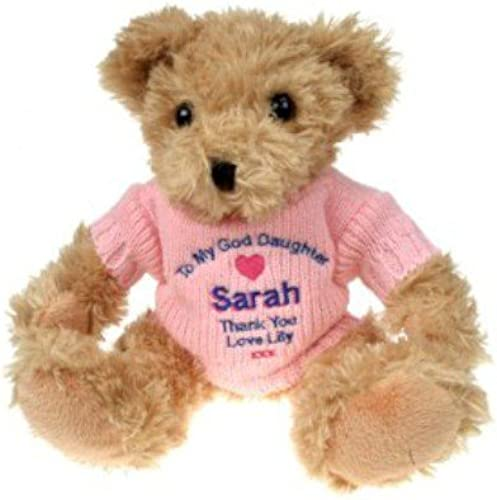 GiftRush Embroiderot Personalised God Daughter Teddy Bear