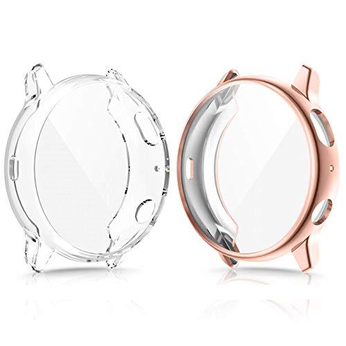 CAVN Protector Compatible con Samsung Galaxy Watch Active 2 40mm, Cobertura Total TPU Funda Flexible antiarañazos Funda Protectora Suave para Galaxy Watch Active 2 40mm