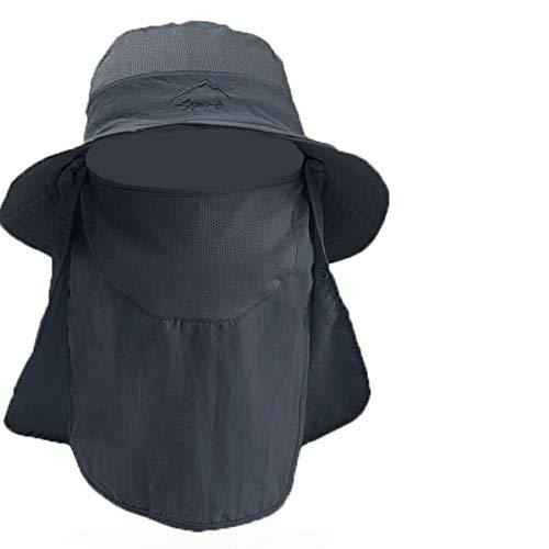 TYC Sombrero para el Sol Unisex, Sombrero de Pesca con Velo y Mosquitera Protección Cuello, Gorra de Pesca para Pesca, Senderismo, Camping, Playa y Safari