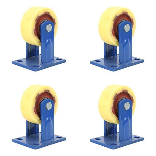 Ruedas giratorias 4 Ruedas de Nailon Resistentes con 360 Grados, Capacidad de Carga 800 kg por Rueda para Muebles e Industria, Tres tamaños