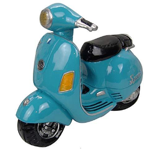Topshop24you wunerschöne Spardose Motorroller, türkis sehr edel und groß mit Gummiverschluß