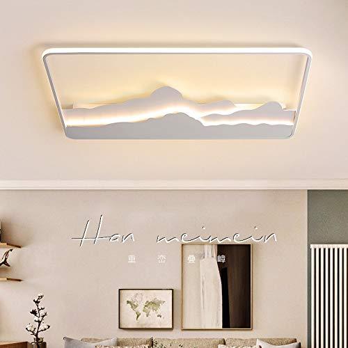 Temperament Modern plafond verlichting LED-lamp for de woonkamer Slaapkamer Study Room Witte kleur opbouw plafondlamp Deco AC85-265V hjm grregsdv (Emitting Color : Changeable, Size : 50cm X 50cm)