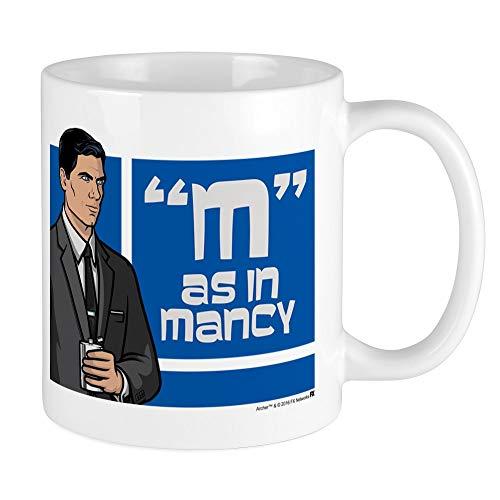 CafePress Archer Mancy Mug Unique Coffee Mug, Coffee Cup