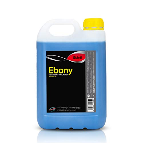 Sisbrill Ebony Acondicionador y Protector de Neumáticos - Negro Duradero - Brillo Satinado y Acabado Seco - No se va con la Lluvia - 5 litros