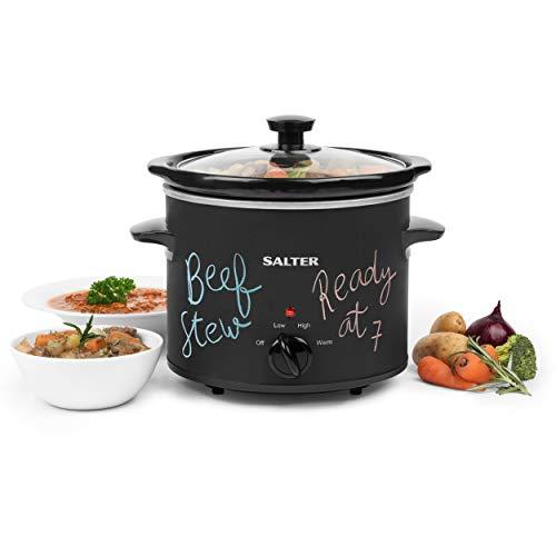 Salter Chalkboard Slow Cooker 3.5 L, 3 Heat Settings