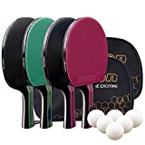 Senston Racchette da ping-pong Table Tennis set professionale per attività familiari, sco...