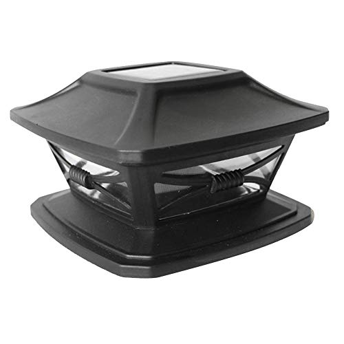 ORETG45 Solarleuchten für den Außenbereich, solarbetriebene Pfostenkappe, Landschaft, wasserdicht, LED-Effekt, Dekoration für Zaun, Garten, Terrasse, nicht null, 2 Stück, Weiß, Free Size