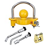 Cenipar Trailer Hitch Lock Set 5/8 Inch, 1/2 Inch Hitch Dog Bone Pin Lock Trailer Coupler Lock and Universal Coupler Lock Fits Class III IV Hitches Towing Locks