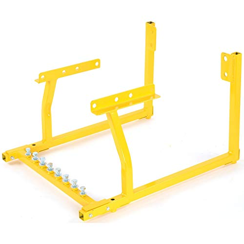JEGS Engine Cradle | For Pontiac Engines | All-Steel Construction | Dimensions: 14' High x 19' Wide x 24' Deep | Weight Capacity: 1000 lbs. | Powder Coated Yellow | Includes Hardware