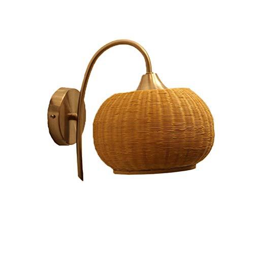 Heart Forest-Wall Lights Lámpara de Pared de bambú Lámpara de mesita de Noche Lámpara de Pared de Estudio Luces De Pared