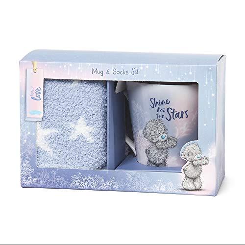 Ik naar u AGZ01054 mij naar u Purple Star sokken & Tatty Teddy mok cadeau set, keramiek