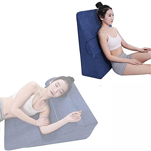 Kilkudde, ortopedisk sängkuddekudde, lutningsstödkudde, för syraåterflöd, ryggsmärtor, snarkning och halsbränna - minskar andningsproblem