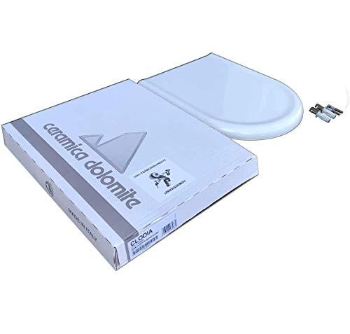 Copriwater Dolomite Clodia ORIGINALE in termoindurente cerniere inox codice J104900 colore bianco