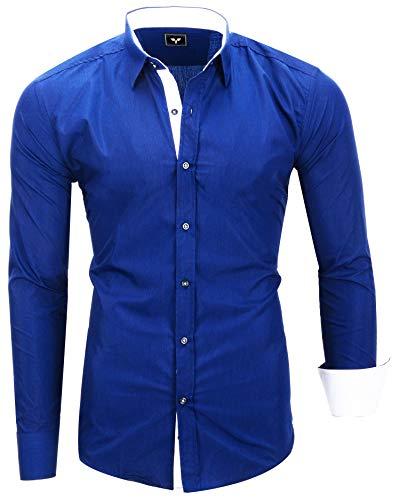 Kayhan Hombre Camisa, TwoFace Blue L