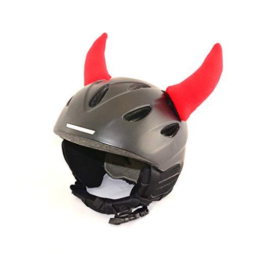 Helm-Hörner für den Skihelm, Snowboardhelm, Kinder-Helm, Kinder-Skihelm oder Motorradhelm - verwandelt den Helm in EIN EINZELSTÜCK - der HINGUCKER - für Kinder und Erwachsene HELMDEKO (Teufel Rot)