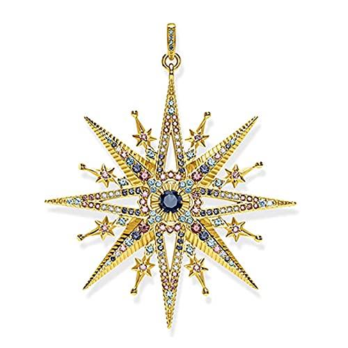 OYZY Oro Libre De La Estrella Colgantes, La Joyería De La Vendimia Plata De Ley 925 Accesorio Precioso Hecho A Mano Regalo For Las Mujeres