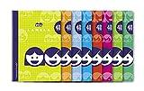 Editorial Lamela 07004 Paquete 10 Cuaderno Basico 4º 40H C/4, 8 colores surtidos