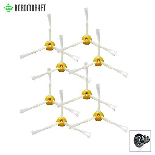 ROBOMARKET - Kit de recambios compatibles con iRobot Roomba 500, 600, 700, 520, 530, 550, 560, 570, 580, 610, 620, 630, 650, 660, 680, 760, 770, 780, 790. Juego de accesorios de 8 cepillos de 3 brazos