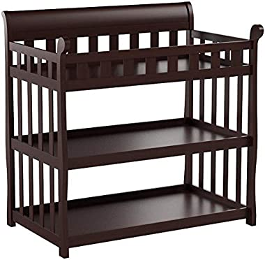 Delta Children Eclipse Changing Table with Changing Pad, Black Cherry