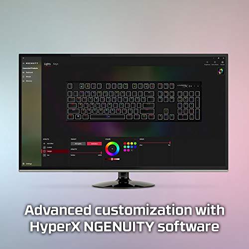 HyperX HX-KB6AQX-US Alloy Origins, RGB Mechanische Gaming Tastatur, HyperX Aqua, (QWERTY - US Layout)