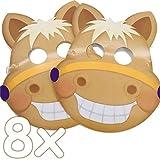 Ponymasken: 8 Masken * SÜSSES Pony * als Verkleidung für Kindergeburtstag oder Pferde-Mottoparty |...
