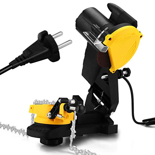 KKmoon Afilador de Cadenas de Motosierra, 85W, 4800 rpm Herramienta de Pulido Eléctrica Amoladora de Motosierra Amoladora de Cadenas Eléctrica