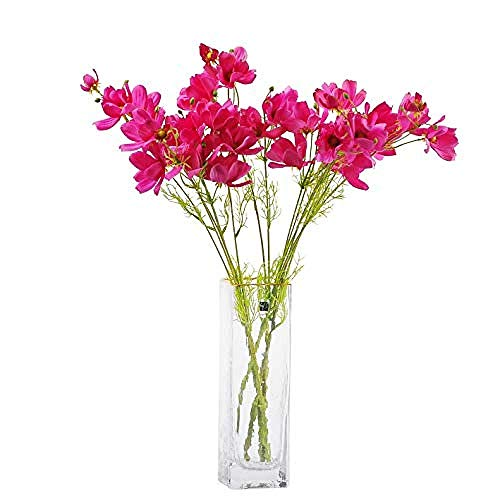Artificial Flowers For Decoration Artificial Wild Flower Cosmos 6Pcs Long Stem Coreopsis For Wedding Bridal Diy Bouquet Home Décor Centerpieces