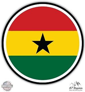 Ghana Flag - Vinyl Sticker Waterproof Decal