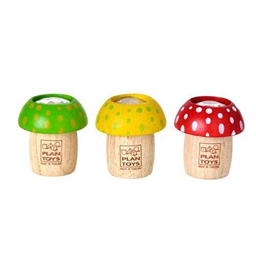 Plan Toys PLOT-4317, Juguetes de madera - Caleidoscopio de hongos, Colores surtidos,...