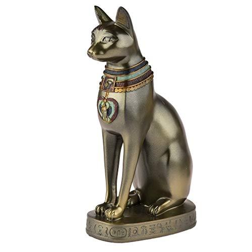 lachineuse Grande Statuette DÉESSE BASTET Chat - Hauteur 19 cm