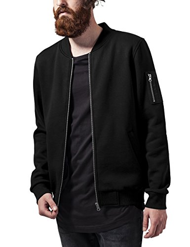 Urban Classics Herren Sweat Bomber Jacket Jacke, Schwarz, Medium