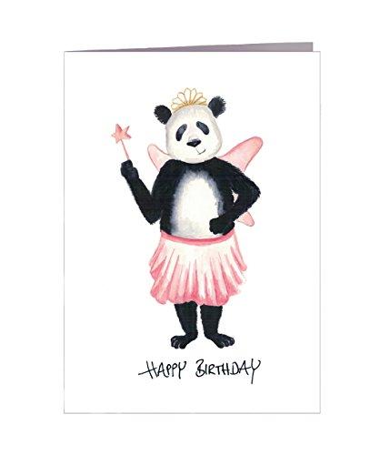 Geburtstagskarte Happy Birthday Panda - Handmade in Hamburg - 100% Recyclingpapier - Glückwunschkarte mit Umschlag Geburtstag Geburtstagskarten Glückwunschkarte Grußkarte Geschenkkarte