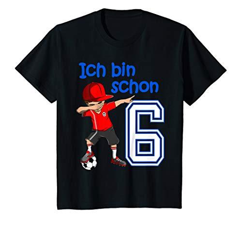 Kinder 6. Geburtstag Fussball Jungen 6 Jahre Fußballer Geschenk T-Shirt
