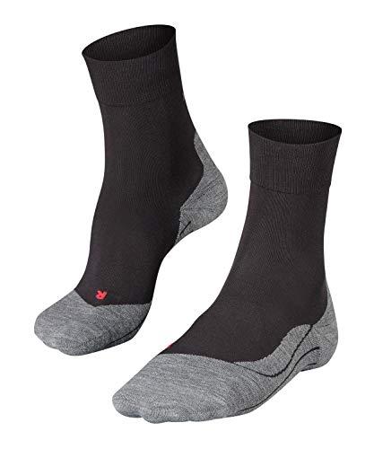 FALKE Damen Laufsocken RU4, wadenlange Running Strümpfe mit Baumwolle, Sport - Socken mit mittelstarker Polsterung, Antiblasen, 1 Paar, Schwarz, 39-40