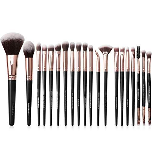 NIVNI Maquillage Brosse, 20 Pcs Maquillage Brosse Ensemble Cosmétique Maquillage Brosses pour Fondation Mélange Blush Correcteur Ombre À Paupières