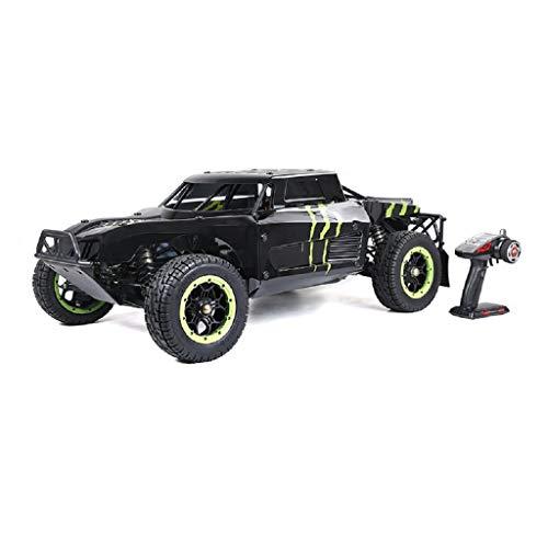 LOSA 4WD RC Buggy Gasolina, 1/5 de Coches de Juguete de Gas Off Road con Motor de 45 CC de Gasolina para Adultos, 2.4G regulador de Radio Incluyó,Black and Green