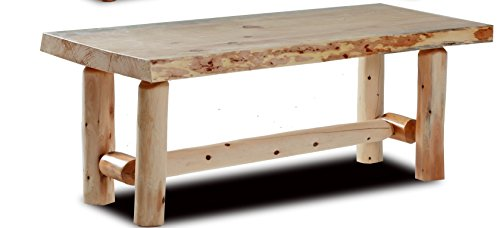 Rustic Log Coffee Table Pine and Cedar (Clear Lacquer)