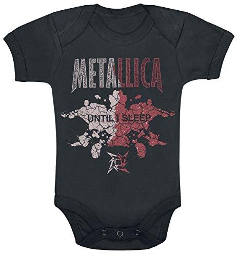 Metallica Until I Sleep Unisex Body Negro 80/86, 100% algodón,