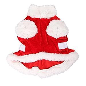 madlife Garage Fashion Motif garçons filles pour petit chien/chat vêtements d'hiver de Noël Père Noël et Bonnet de Noël en velours Cuty Pet vêtements