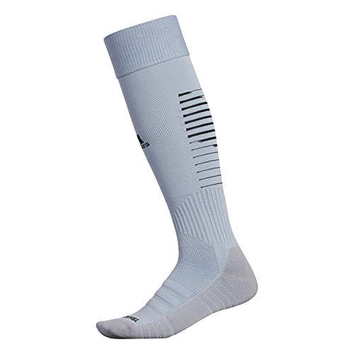 adidas Unisex Team Speed II Soccer Socks, (1-Pair), Light Grey/Black/Light Onix, 5-8.5