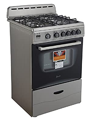 "Avanti GR2416CSS 24"" Gas Range with Sealed Burners, in Stainless Steel"