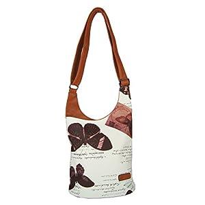 d236ecf93144d CASAdiNOVA - Umhängetasche Damen Groß – Braun Butterfly - Crossbody Bag -  PU Leder Schultertasche - Messenger Handtasche - Damen Tasche – premium ...