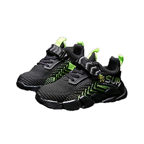 Calzado Deportivo para niños Primavera y otoño nuevos Zapatos Deportivos Transpirables de Malla cómodos Antideslizantes Suela Suave Plana Zapatos Deportivos Ligeros