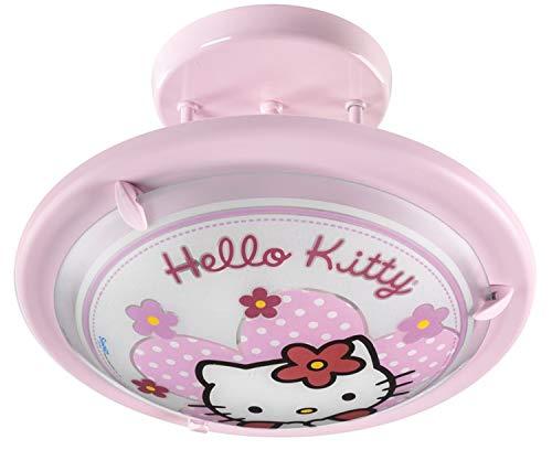 Dalber Semi-Plafonnier Rond en Verre et Métal - Hello Kitty