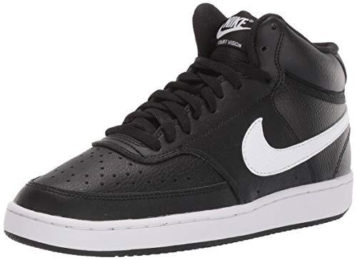 Nike Damen Court Vision Mid Hohe Sneaker, Schwarz (Black/White 100), 38.5 EU