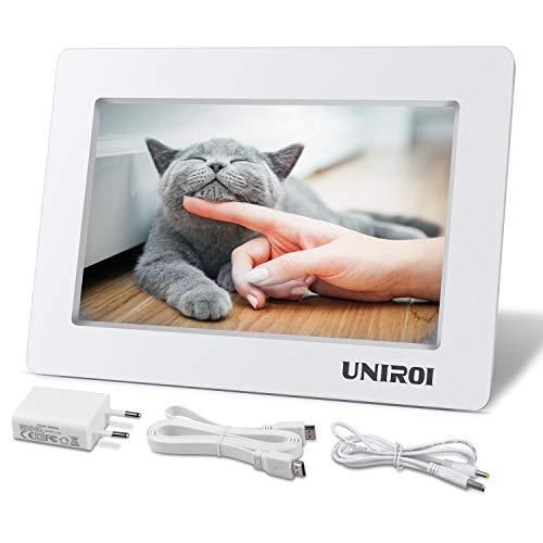 UNIROI 7 Zoll 1024x600 HD LCD Bildschirm für Raspberry Pi HDMI Monitor mit Ultra-Slim Schale für Raspberry Pi 4 3 2 Modell B + 3B 2B B + A + A RPI Zero