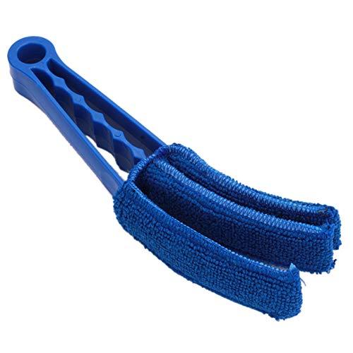 Sawyerda - Cepillo de microfibra para persianas de ventana con ventilación y aire acondicionado para uso doméstico, color azul