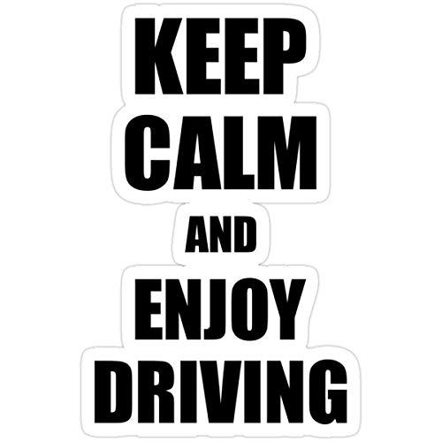 DKISEE Pegatinas con texto en inglés 'Keep Calm an Enjoy Driving Lover' (3 piezas/paquete) calcomanías de vinilo para botella de agua de 4 pulgadas